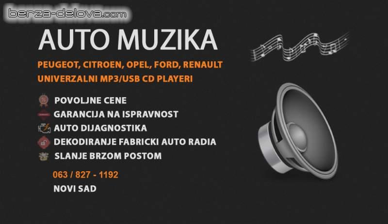 Auto muzika Peugeot Citroen Opel Renault